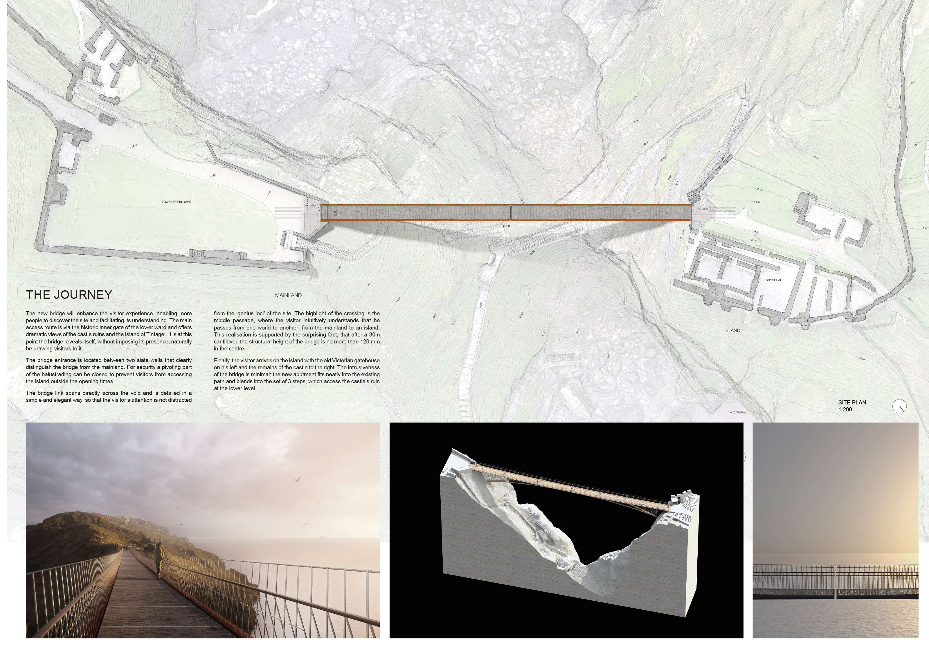 shortlist — tintagel castle: bridge design competition