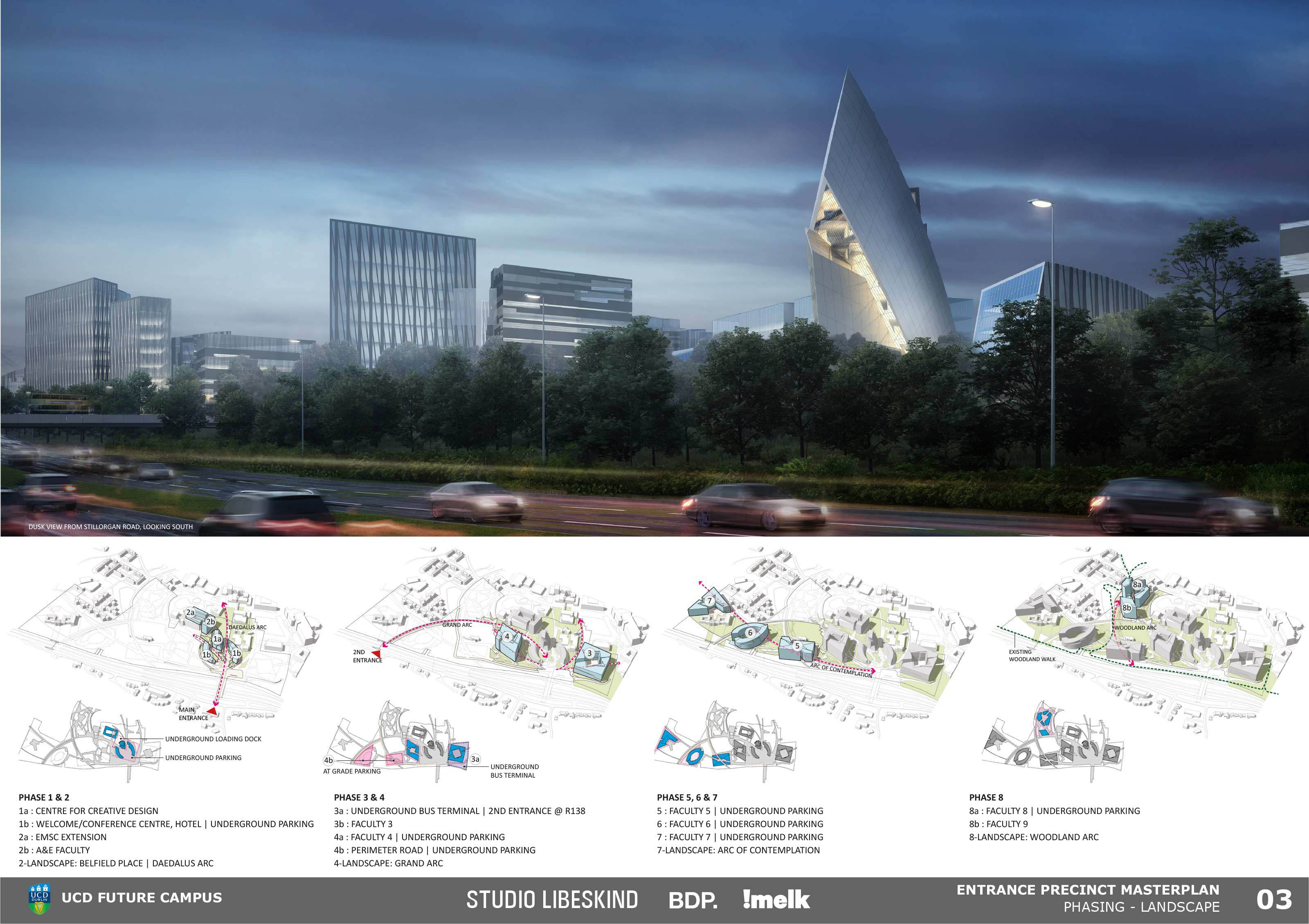 Studio Libeskind Future Campus Ucd International Design Competition